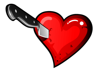 Stabbing Heart with Knife Vector Free