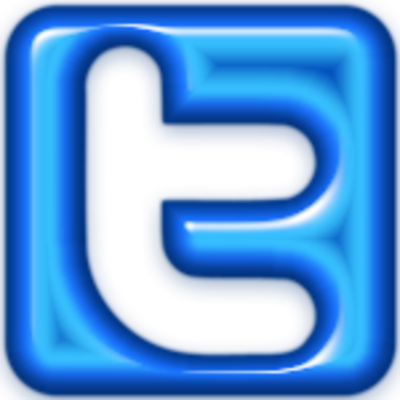 (Neon Blue Twitter Icon) PSD Free Download