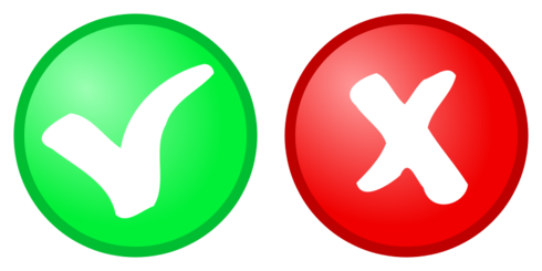 red + green OK, not OK Icons