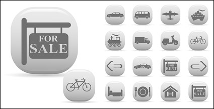 Simple vector icon travel material