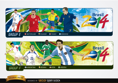 Headers with groups Brazil 2014