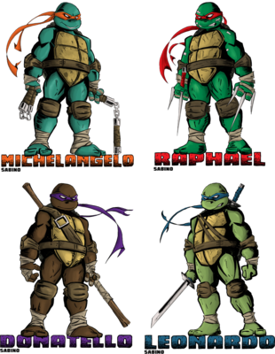 TMNT (Teenage Mutant Ninja Turtles) together now! PSD