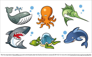 Cartoon Sea Animals