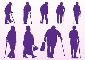 Elderly People Silhouettes