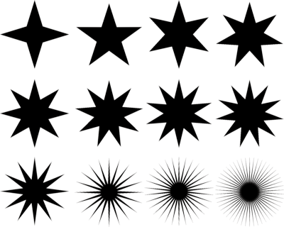 Assorted Stars PSD