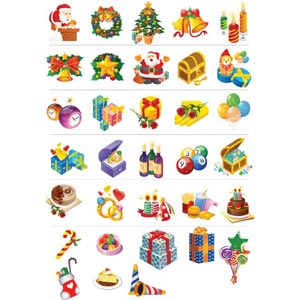Christmas Package of 28 Abstract Icon vectors