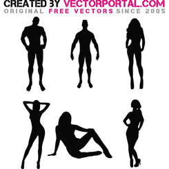 MEN AND WOMEN SILHOUETTE VECTOR.eps