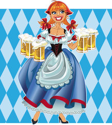 Cartoon Beer Girl 04