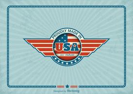 Free Made In USA Retro Vector Label