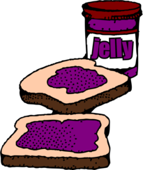 peanut butter翻译_免费 Colorized Peanut butter and jelly sandwich with label 矢量图 - VectorHQ.com