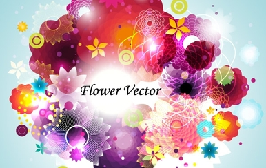 Abstract Flower Vector Abstract Art Background