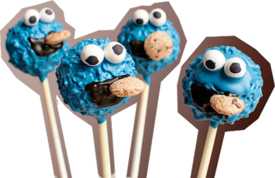 COOKIE MONSTER LOLLIPOPS PSD
