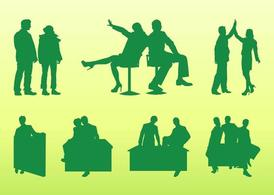 Businesspeople Silhouettes Set