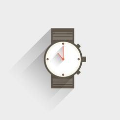 WRIST WATCH VECTOR CLIP ART.eps