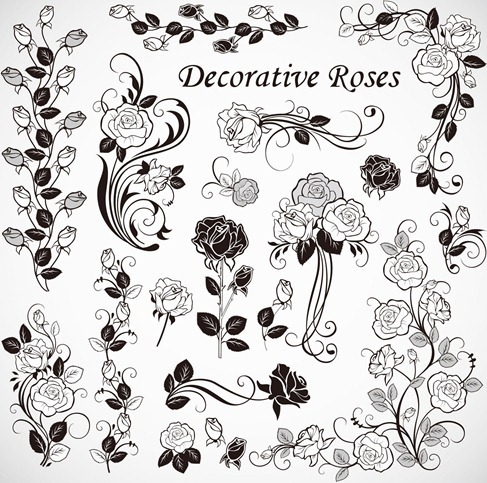 Free Vector Roses Decoration