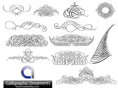 Creative Calligraphic Ornament Set