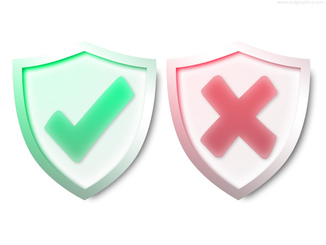 Security and warning shields (PSD)