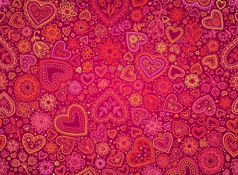 Red Heart Valentines Day Card Background