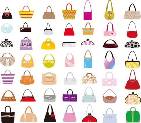 Vector Set of Woman Bags