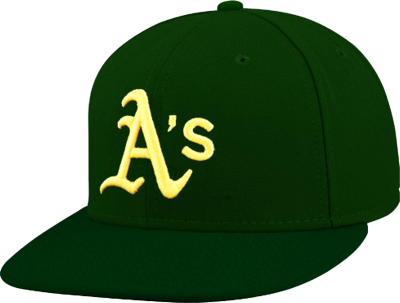 Oakland As Fitted Hat PSD