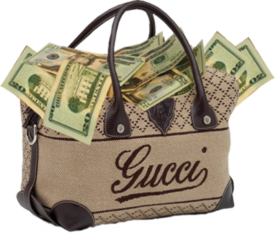 Gucci Bag With Cash PSD