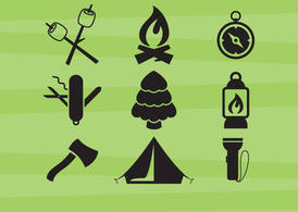 Camping Vector Icons