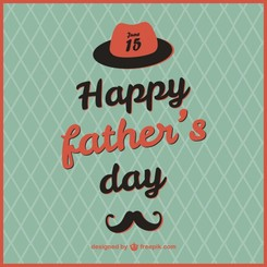 Retro father's day card template