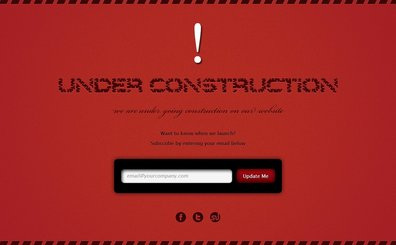 Free Website Under Construction PSD Template