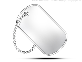 Military dog tag, PSD icon