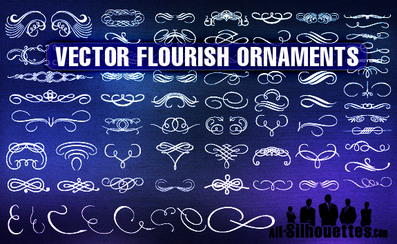72 Vector Flourish Ornaments