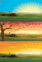 Vector Countryside Scenery