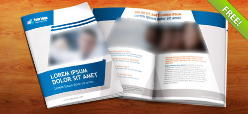 Free PSD Booklet Template - 8 Pages