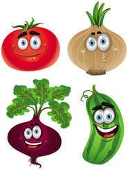 Vegetable cartoon image 01