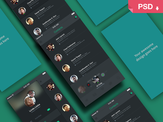 Freebie PSD: App Screens Perspective Mock Up