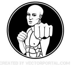 MARTIAL ARTS FIGHTER VECTOR GRAPHICS.eps
