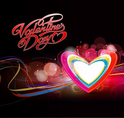 Abstract Colorful Hearts Background