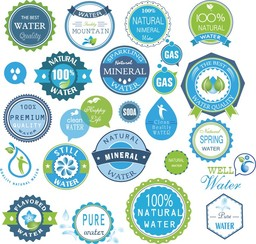 Water Badges And Stickers Set