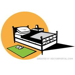 BED VECTOR GRAPHICS.eps