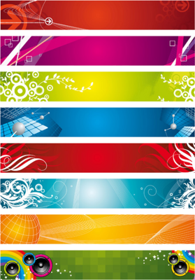 8 Web Banners PSD