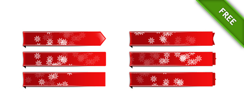 Holiday Labels PSD Set