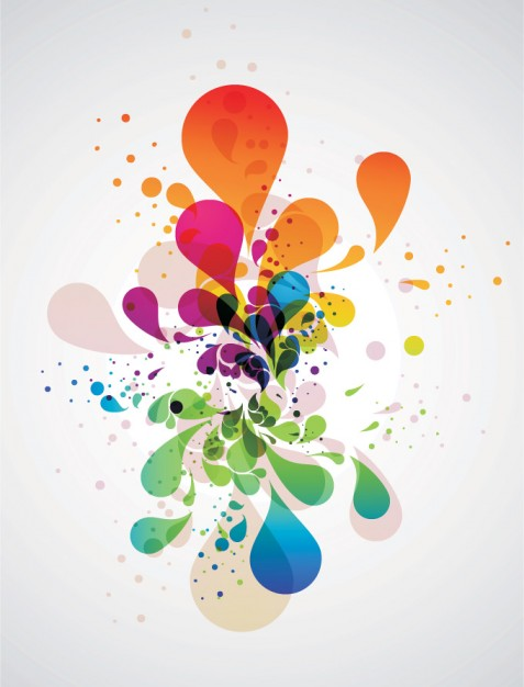 Colourful Splashing Background Abstract