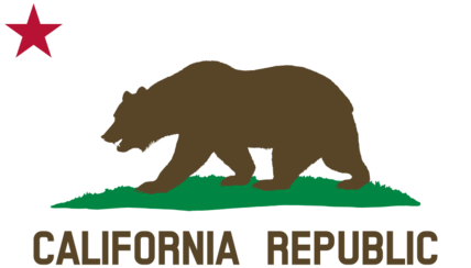 Flag of California (Bear, Star, Plot, Title, Solid)