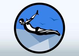 Cliff Diving Logo