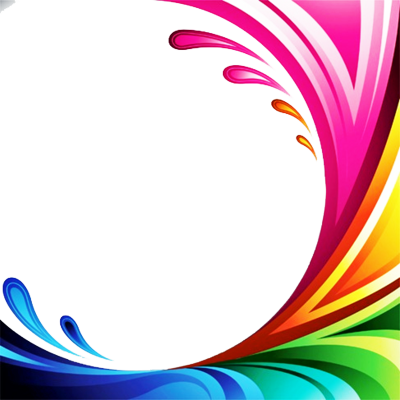 rainbow splash border PSD