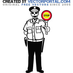 POLICE OFFICER VECTOR GRAPHICS.eps