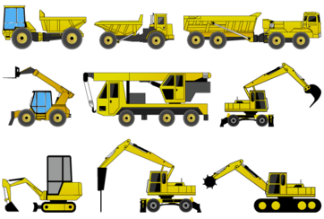 Free Construction Machines Illustrator Pack 2