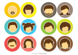 Cartoon Face Icons Vector Pack