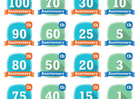 Modern Anniversary Badge Vectors