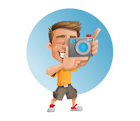 Photographer Vector Character