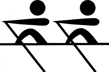 Olympic Sports Rowing Pictogram